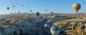 Hot air balloon flight over Love Valley cappadocia