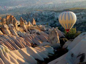 Hot air balloon flight in Cappadocia