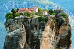Suspended monastery in Meteora Greece